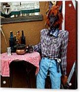 Drunk Werewolf Diner Acrylic Print