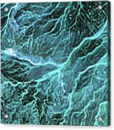 Dry River Beds, Satellite Image Acrylic Print by Nasa