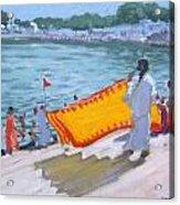 Drying Sari Pushkar  Acrylic Print