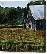 Drying Tobacco Barn Acrylic Print