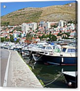 Dubrovnik Cityscape And Harbor Acrylic Print