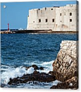 Dubrovnik Fortification And Bay Acrylic Print