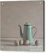 Duck Eggs And Coffee Pot Acrylic Print