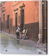 Ducks Swimming On Calle Reloje Acrylic Print