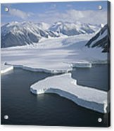 Dugdale And Murray Glaciers Antarctica Acrylic Print by Tui DeRoy