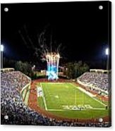 Duke Fireworks At A Packed Wallace Wade Stadium Acrylic Print