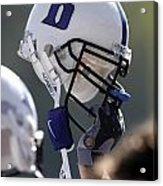 Duke Football Helmet Acrylic Print by Duke University