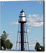 Duluth Mn Bridge Lighthouse Acrylic Print