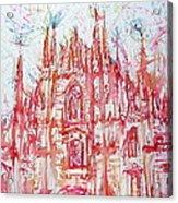 Duomo City Of Milan In Italy Portrait Acrylic Print