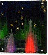 Dupont Gardens Singing Fountain Acrylic Print