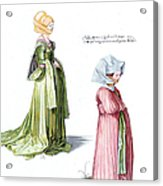 Durer: Fashion, 1500 Acrylic Print