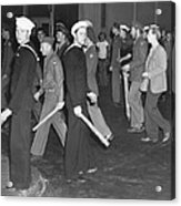During Zoot Suit Riot, Los Angeles Acrylic Print by Everett