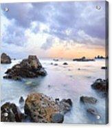 Dusk At Oze Rocky Shore Acrylic Print