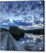 Dusk At The Abol Bridge Acrylic Print