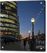 Dusk In London Acrylic Print