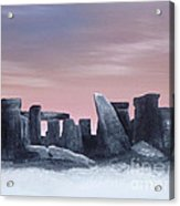Dusk On The Winter Solstice At Stonehenge 1877 Acrylic Print