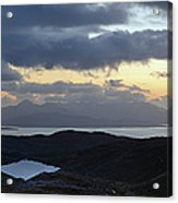 Dusk Panorama Of Skye Acrylic Print