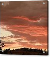Dusk With Color Acrylic Print