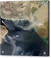 Dust Storms Across Iran, Afghanistan Acrylic Print