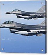 Dutch F-16ams During A Combat Air Acrylic Print