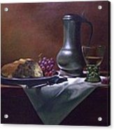 Dutch Roemer With Bread And Grapes Acrylic Print