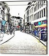 Dutch Shopping Street- Digital Art Acrylic Print