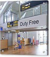 Duty Free Shop At An Airport Acrylic Print