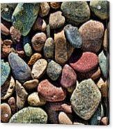Dyed Stones Acrylic Print