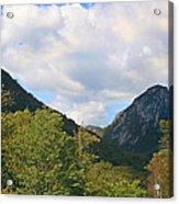 Eagle Cliff Seen Froom Boise Rock In Franconia Notch Acrylic Print