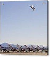 Eagle Over Thunderbirds Acrylic Print