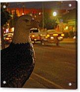 Eagle Watching Grants Pass Night Acrylic Print