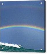 Ealy Morning Rainbow Surf Acrylic Print