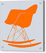 Eames Rocking Chair Orange Acrylic Print