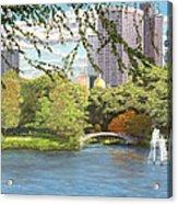 Early Color On Esplanade Acrylic Print
