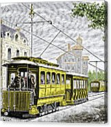 Early Electric Tram Acrylic Print