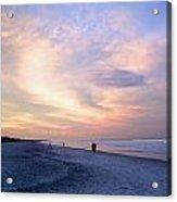 Early Evening Beach Walk Acrylic Print