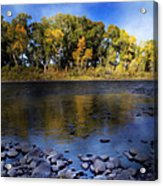 Early Fall At The Headwaters Of The Rio Grande Acrylic Print by Ellen Heaverlo