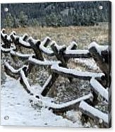 Early Fall Snow Acrylic Print