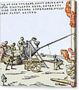 Early Firefighting Equipment, 1569 Acrylic Print