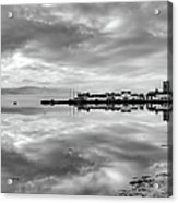 Early Morning At Inverary Black And White Version Acrylic Print