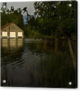 Early Morning Clam Lake Channel Acrylic Print