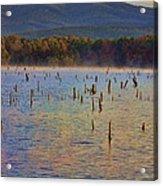 Early Morning Color Of Lake Wilhelmina-arkansas Acrylic Print
