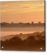 Early Morning Mist, Bradworthy, North Acrylic Print