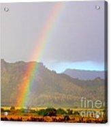 Early Morning Rainbow At Sleeping Giant Mountain Acrylic Print