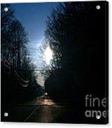 Early Morning Rural Road Acrylic Print by Susan Stevenson