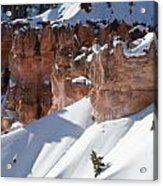 Early Morning Snow In Bryce Canyon Acrylic Print