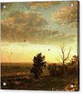 Early Morning Sunrise On The Praires Acrylic Print