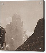 Early Mountaineering In The Alps Acrylic Print by Georges Tairraz