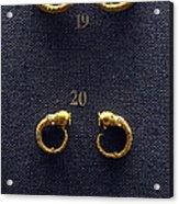 Earrings Acrylic Print
