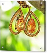 Earrings Acrylic Print
